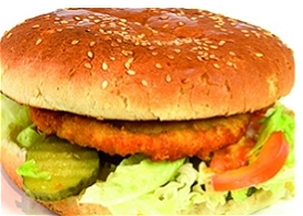 Foto Chicken burger speciaal